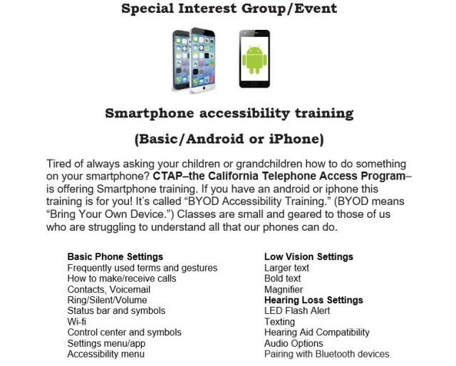 Smartphonetraining