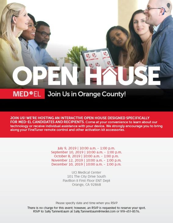 Orange UCI Open Houses (July-December 2019)